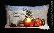 LED Dekokissen Leuchtkissen Kissen Sofakissen Zierkissen Füllung KERZE 30x50cm