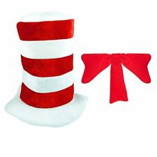 Childs Cat In The Hat & Tie Striped Fancy Dress Up Costume Outfit World Book Day