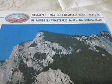 Alpenbahnen Westalpen K 15 Martigny Sembrancher Orsières Le Châble Dranse Täler