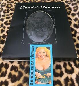 CHANTAL THOMASS PANTYHOSE TIGHTS~GRAY & BLACK ARABESQUE~FRENCH BOUDOIR~NEW&TAG~M