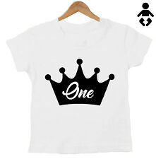 Personalised Number, Crown One 1, Birthday T-Shirt, 2, two 3, 4, 5 Baby, Childs