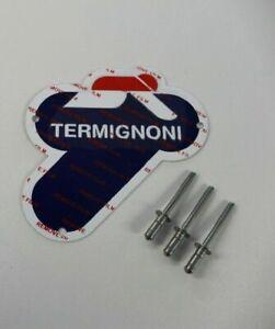 Genuine Termignoni Silencer 60 x 60 mm Metal Badge / Emblem Inc Rivets