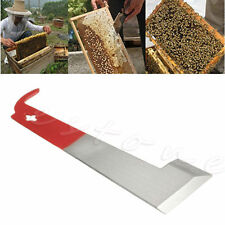 J Shape Beekeeping Tool Red Curved Tail Bee Hive Hook Stainless Steel Scraper
