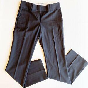 Ann Taylor Women's Trouser/ Pant Sz 0 Brown Pin Stripe Modern Fit Wool/ Spandex