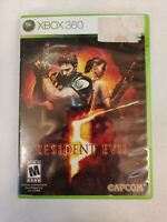 RESIDENT EVIL 5 Microsoft XBOX 360 Video Game - Tested - No Manual