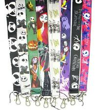 10pcs Nightmare Before christmas Lanyards For ID Badge Mobile Phone Key Chain