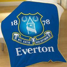 EXTRA LARGE - Everton Super Soft Fleece Blanket Throw Boys Fans Football Blue