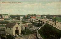 Hopedale MA Hope St. Bridge c1910 Postcard