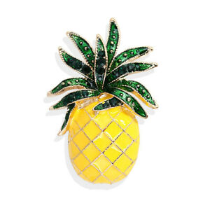 H&Y Top Selling Pineapple Yellow Fashion Alloy Metal Plating Enamel Pin Brooch