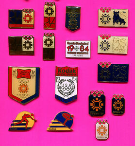 1984 SARAJEVO OLYMPIC PIN LOT #3 PICK A PIN 1-2-3 OR ALL LOT OF 16 PINS BADGE