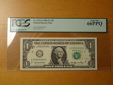 Lucky $1 Federal Note Fancy Serial Near Solid 8 88888 888888 8888888 08888888