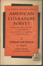 American Literature Survey Colonial and Federal To 1800 Stern & Gross PB 1965