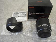 NEW+UK Sigma Nikon 18-200mm f 3.5-6.3 DC AF Zoom Lens Nikon Mount AF D+BOX 200 M