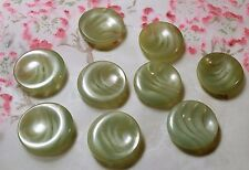 LOT 9 ANCIENS BOUTONS LUCITE ton gris blanc inclusion vague 23 mm VINTAGE E L9