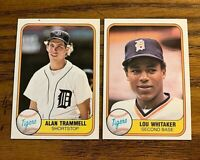 1981 Fleer #461 Alan Trammell and #463 Lou Whitaker - Tigers