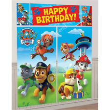 PAW PATROL SCENE SETTER HAPPY BIRTHDAY PARTY WALL DECORATION KIT BACKDROP POSTER