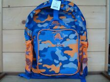 Genuine CROCS Backpack and Lunch Bag Combo - Navy / Orange Camouflage