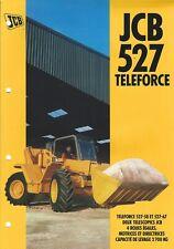 Equipment Brochure - Jcb - 527 Teleforce Loader c1995 French language (E4992)