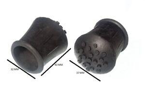 Embout de Canne Béquille Noir Caoutchouc 2.5cm 25mm Id Paquet 4