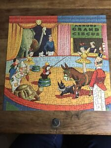 vintage cardboard jigsaw 260 pieces circus picture