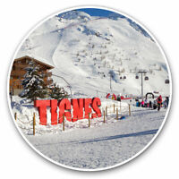 2 x Vinyl Stickers 10cm - Tignes Ski Resort France French Cool Gift #12353