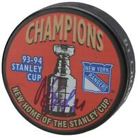 Mark Messier New York Rangers Autographed 1994 Stanley Cup Logo Puck AJ