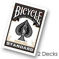 2 Decks x Bicycle STANDARD index playing cards BLACK Poker Magic tricks NEW US