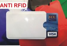 Etui Porte Carte Anti RFID Carte Bancaire Bleue Credit Fraude .