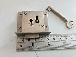 Maple & Co Vintage Cabinet-Cupboard-Drawer Lock 52mm x 44mm  4 Lever 1 Key