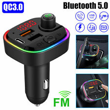 Bluetooth Car Wireless Adapter Kit FM 5.0 Transmitter Radio Hands free Charger