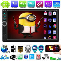 """7"""" Quad Core 2DIN Android 8.1 GPS BT WiFi Car Stereo MP5 Player FM Radio AUX USB"""