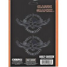 Harley-Davidson Skull With Wings Decal Set free shipping