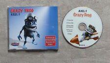 """CD AUDIO MUSIQUE / CRAZY FROG """"AXEL F"""""""" CD MAXI-SINGLE REMIXES + VODEO 2005 5T"""