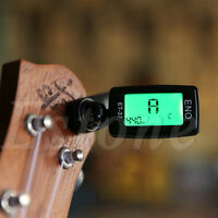Digital LCD Chromatic Electric Guitar Clip On Tuner Acoustic Bass Violin Ukulele