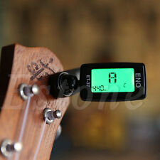 LCD Clip-On Electronic Digital Guitar Chromatic Bass Violin Ukulele Tuner New