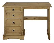 Schreibtisch Schminktisch aus Massivholz Kiefer sehr Stabil 4 Schubladen
