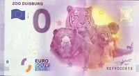 BILLET 0 ZERO EURO SCHEIN SOUVENIR ZOO DUISBURG 2017-2   N° 818 RADAR