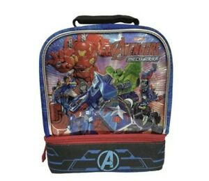 MARVEL AVENGERS MECH STRIKE BPA-Free Dual Insulated Compartment Lunch Tote Box