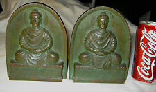 Antique Lct Tiffany Studios Ny Usa Bronze Buddha Statue Sculpture Art Bookends