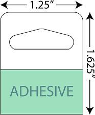 "Adhesive Hang Tabs - 1000/Pack - Heavy Duty Retail Hang Tags 1-1/4"" X 1-5/8"""