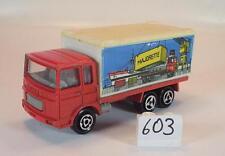 MAJORETTE 1/100 n. 214 Saviem Camion Container proprie Pubblicità ROSSO #603