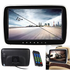 "10"" HD Slim Digitl LCD Screen Car Headrest Monitor USB/SD MP5 Player IR/FM Game"