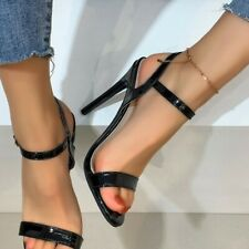 Women Slingback Stiletto High Heel Sandals Buckle Ankle Strap Shoes Peep Toe