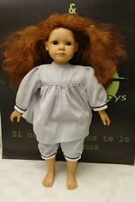 "Heidi Ott 18"" Doll Tan Copper Head Soft Torso Plastic Limbs Freckles Cute"