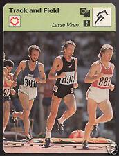 LASSE VIREN Finland Dick Quax Kuznetsov Track Field 1977 SPORTSCASTER CARD 01-22