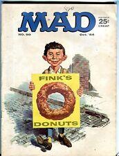 Mad Magazine October 1964 Finks' Donuts VG 111916jhe