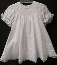 NWT Will'beth 6M Bishop Smocked White Christening Dress Slip Baby Girl Baptism