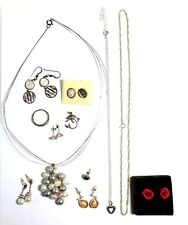 Metal Assorted Jewellery, 46.74g - F13 12x 925 Sterling Silver / Mixed