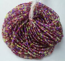 Color Lined Stripe Mix Mix Czech Glass Seed Beads 12 Strand Full Size Hank 10/0