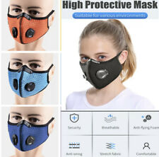 PM2.5 Face Mask Reusable Washable Anti Air Pollution Double vent With Filter Uk